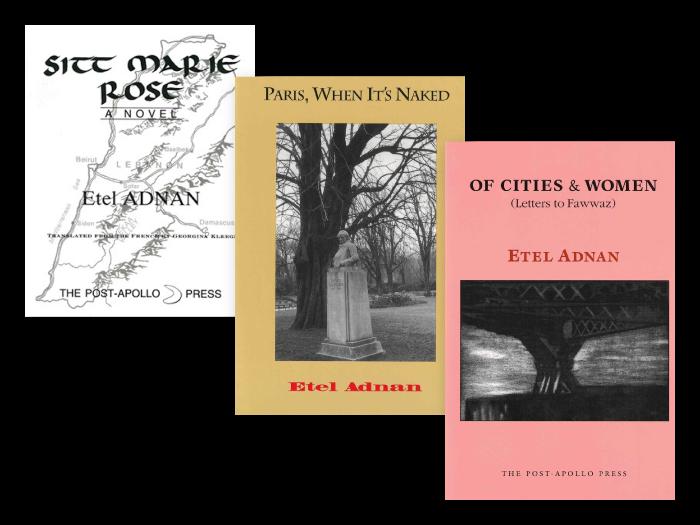 Etel Adnan books